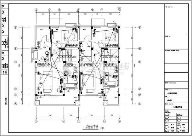 某联排别墅建筑设计图-图3