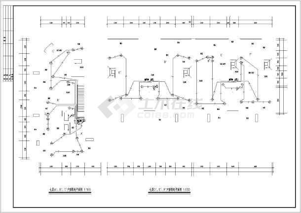 某砖混结构商住楼全套电气施工图(强电、弱电)-图2