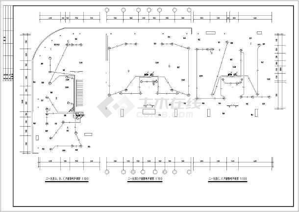 某砖混结构商住楼全套电气施工图(强电、弱电)-图3
