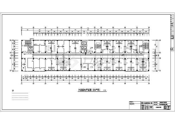 某地保康中医院全专业设计cad施工图纸-图3