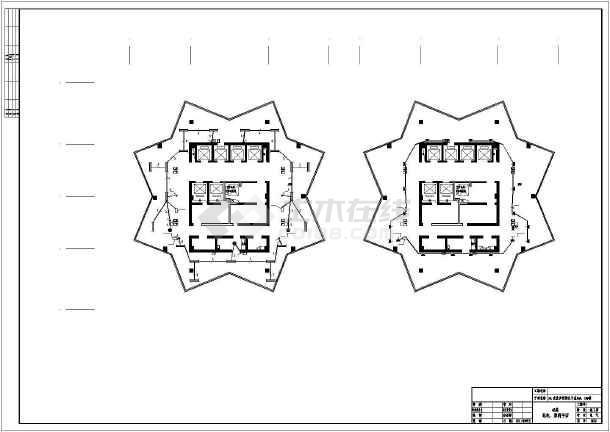 [重庆]某商业步行街45层双子星大厦电气施工图纸-图1