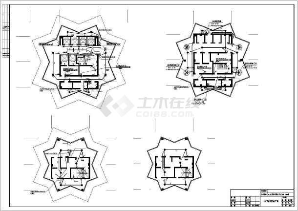 [重庆]某商业步行街45层双子星大厦电气施工图纸-图2