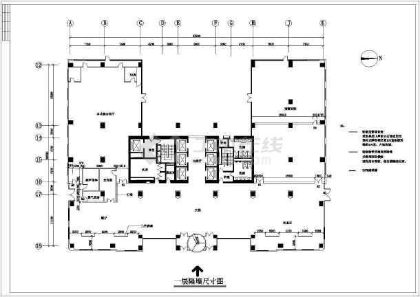 某地银河公司高层办公楼全套建筑设计施工CAD图-图1