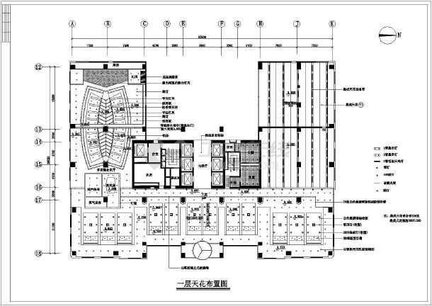 某地银河公司高层办公楼全套建筑设计施工CAD图-图2