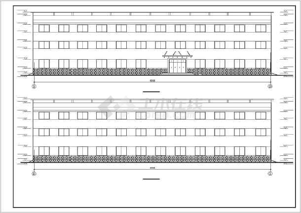 某办公综合楼建筑设计施工CAD图-图3