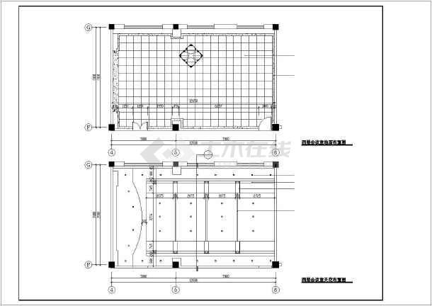 某医院装修设计cad施工图-图1