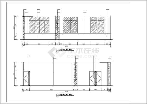 某医院装修设计cad施工图-图3