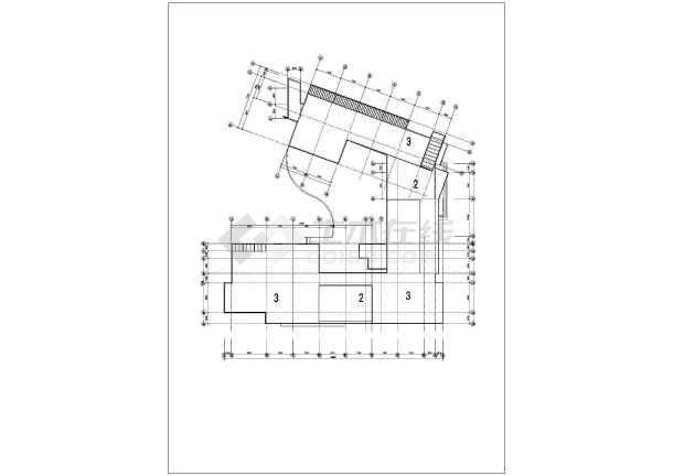 某学校化学实验楼建筑cad方案图-图1