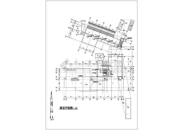 某学校化学实验楼建筑cad方案图-图2