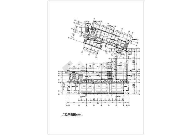 某学校化学实验楼建筑cad方案图-图3