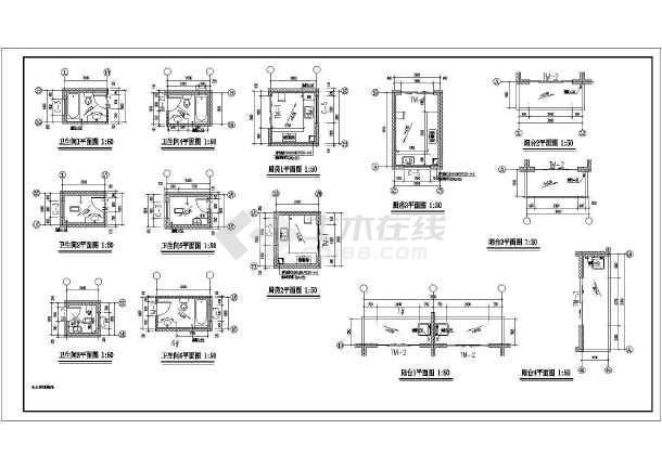 某小区商住楼建筑设计施工图纸-图1