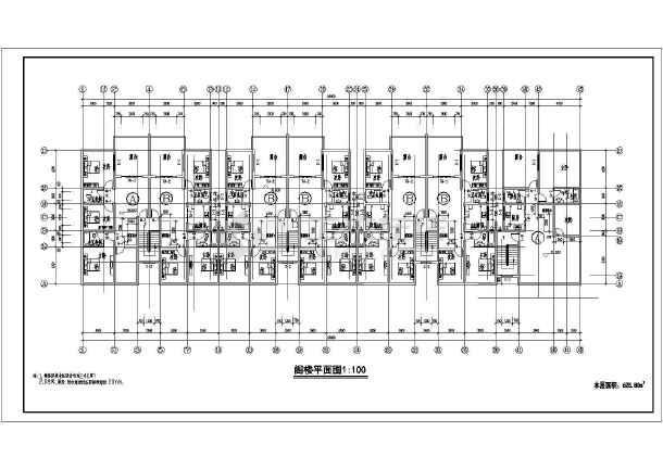 某小区商住楼建筑设计施工图纸-图3