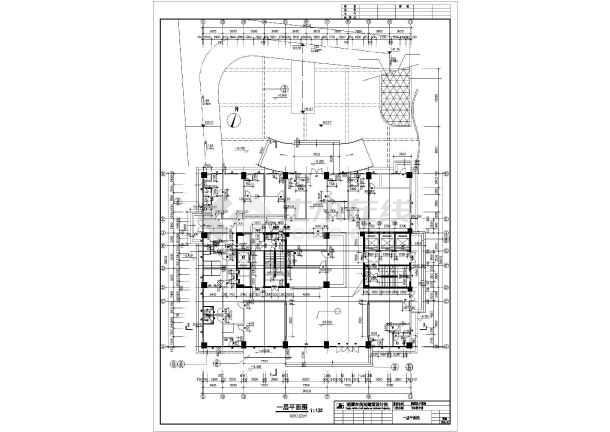 溆浦县医院设计cad施工图-图2