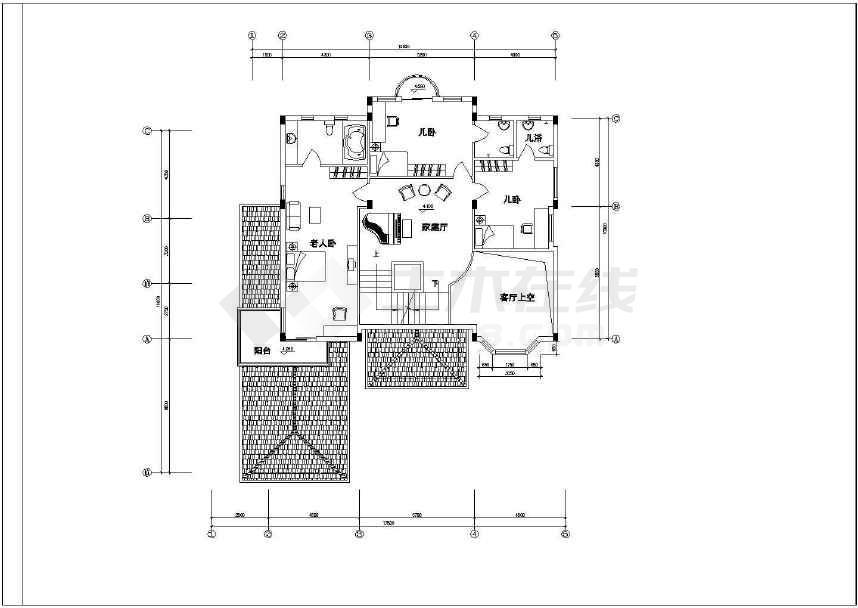 某地简单的别墅建筑设计施工图-图1
