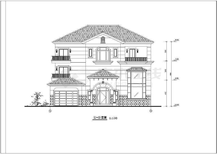 某地简单的别墅建筑设计施工图-图2