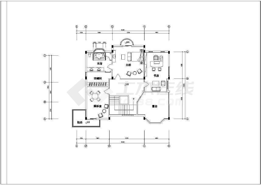 某地简单的别墅建筑设计施工图-图3