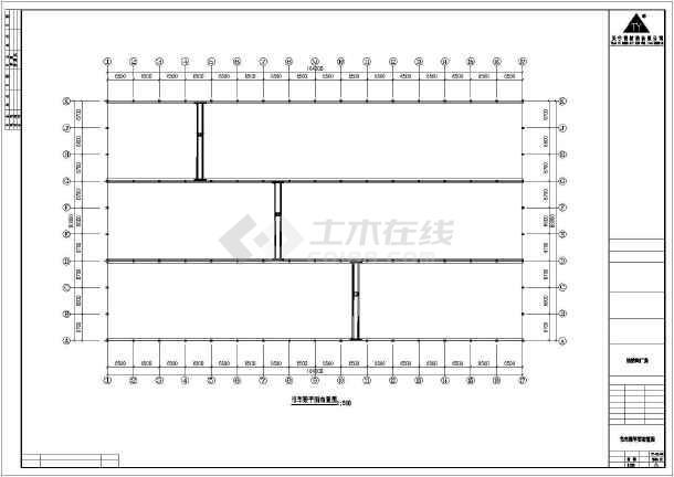 某石材公司钢筑厂房建筑结构图-图1
