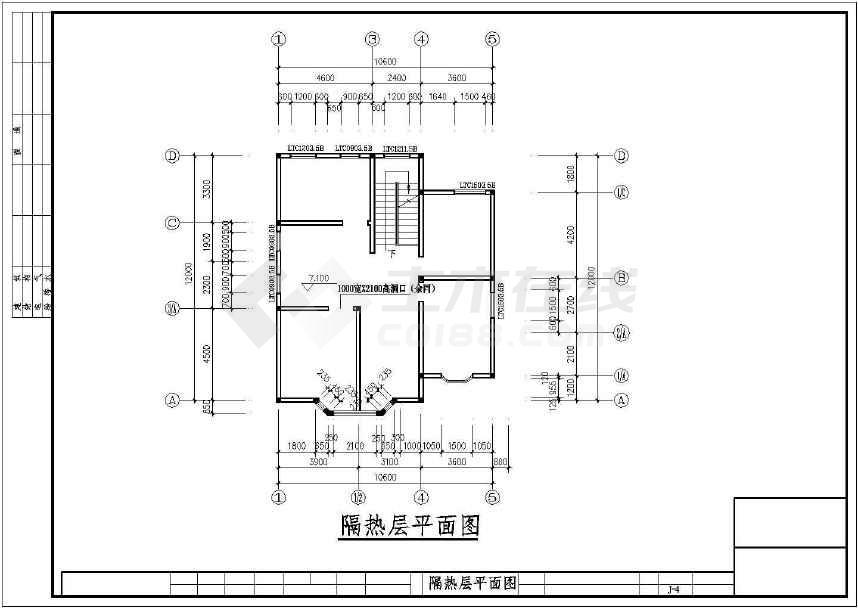 非常完整的私人别墅建筑结构施工图-图3