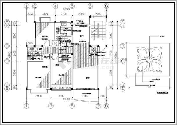 某别墅室内豪华装饰装修cad施工图-图1