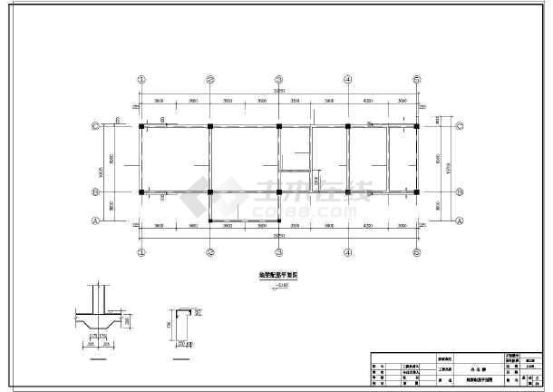 某3层办公楼结构设计图-图1