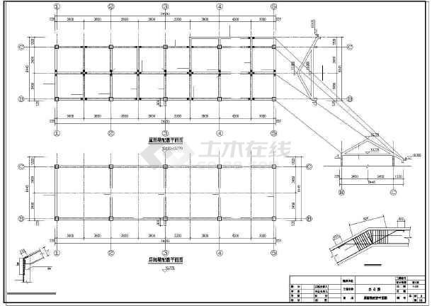 某3层办公楼结构设计图-图3