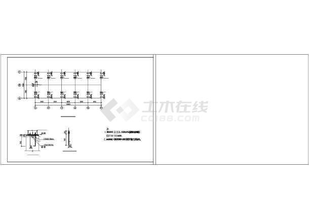 某轻钢结构羽毛球馆建筑结构设计图-图2