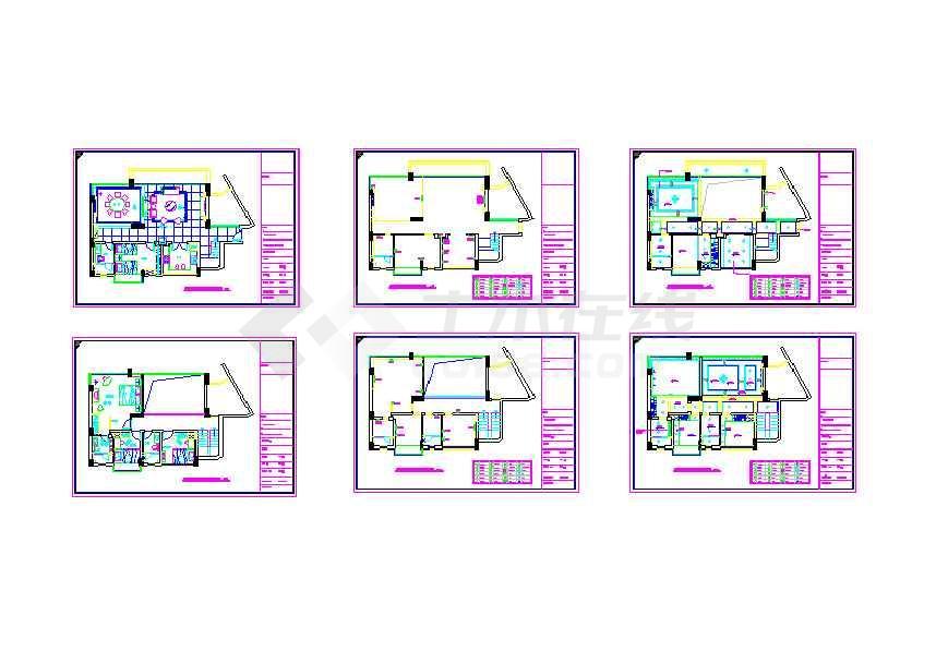 别墅装修cad图(共6张)-图1