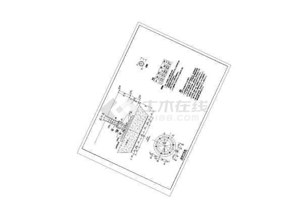 一整套古建筑圆亭建筑施工图纸-图1