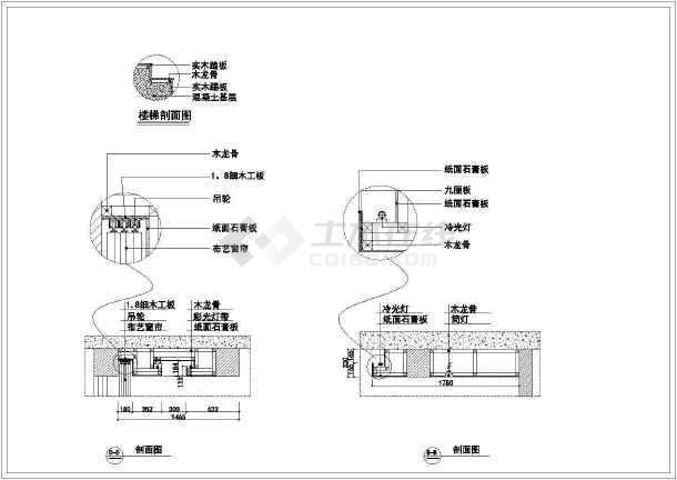 标准两居室家居装饰cad整套施工图纸-图3