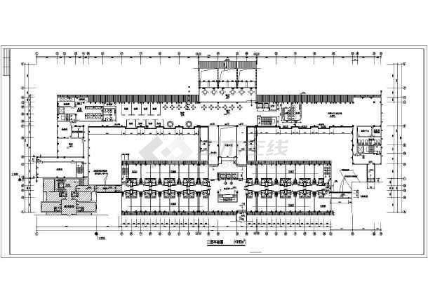 整套星级宾馆设计及平面绿化施工建筑图纸-图1