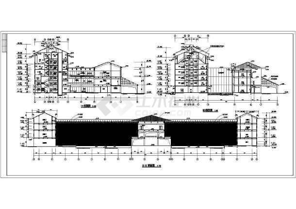 整套星级宾馆设计及平面绿化施工建筑图纸-图2