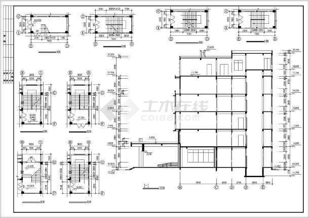 某医院门诊及住院楼cad施工图-图2