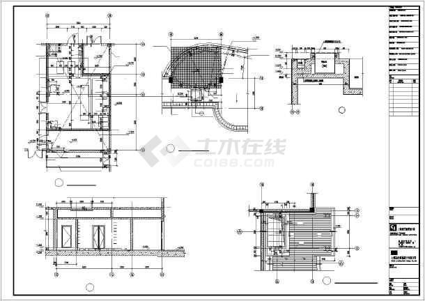 某会所全套cad建筑施工图-图2