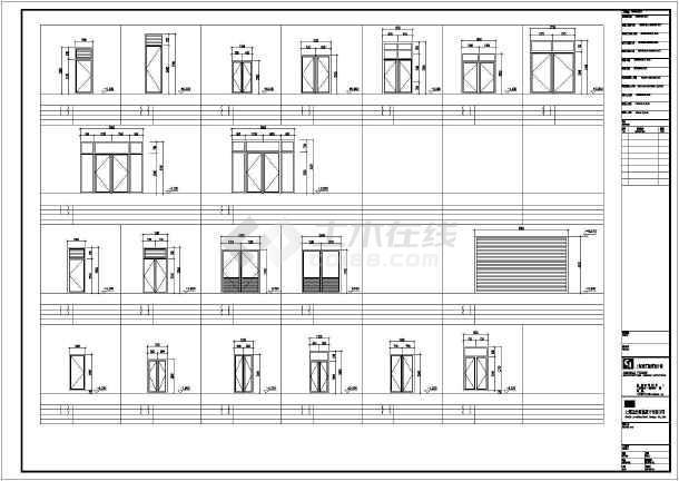某会所全套cad建筑施工图-图3