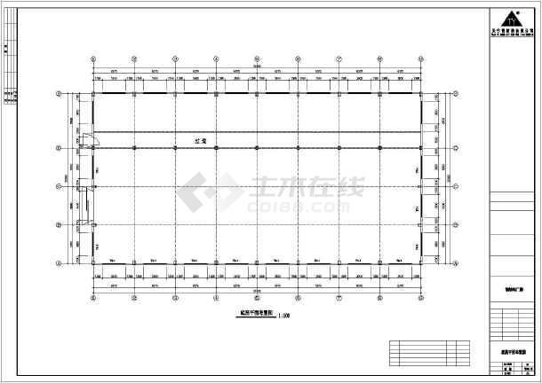 某地三层钢筑厂房建筑结构图-图1