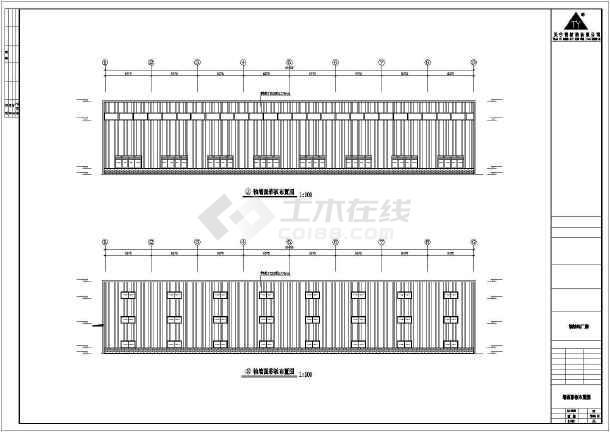 某地三层钢筑厂房建筑结构图-图2