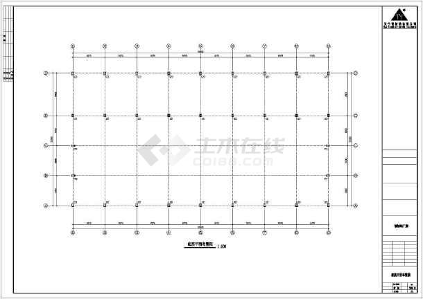 某地三层钢筑厂房建筑结构图-图3