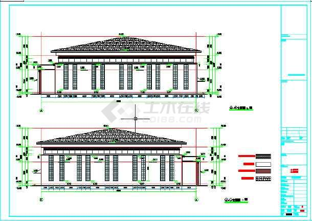 某地学校风雨操场设计施工图纸-图1