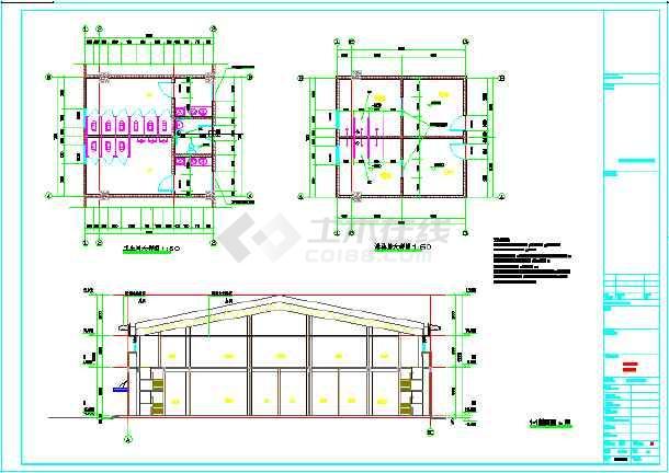 某地学校风雨操场设计施工图纸-图2