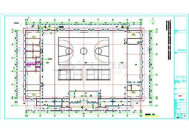 某地学校风雨操场设计施工图纸-图3