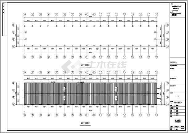 某临时办公室建筑CAD图纸(含v图纸说明)电线杆钢筋骨架图纸图片