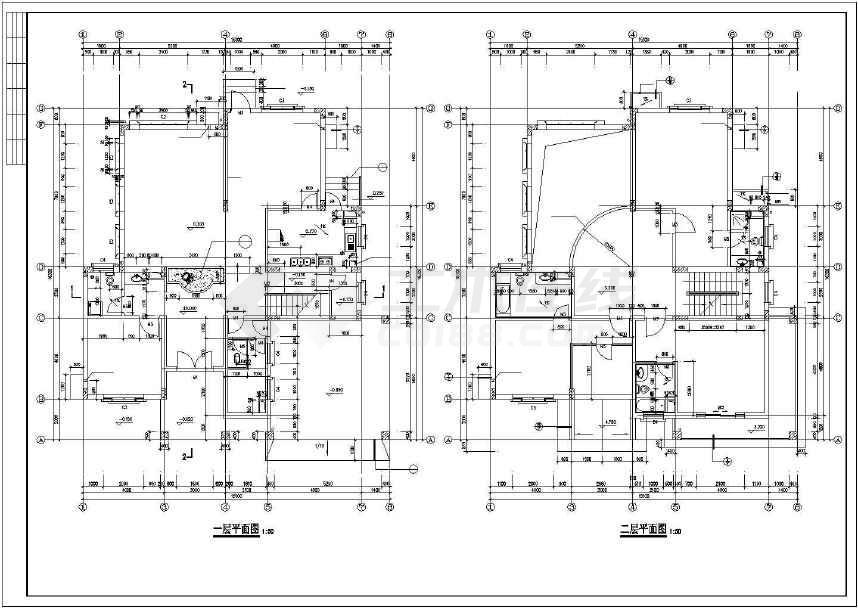比较简单的小别墅建筑施工图 -图2