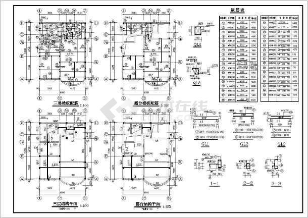 某高层住宅楼建筑设计施工图纸-图3