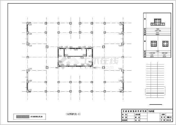 [白银]12层框剪住宅楼结构设计图-图1