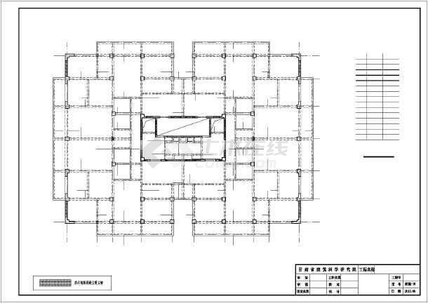 [白银]12层框剪住宅楼结构设计图-图2