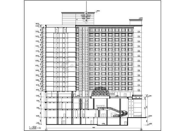 整套高层大酒店建筑设计施工图纸-图1