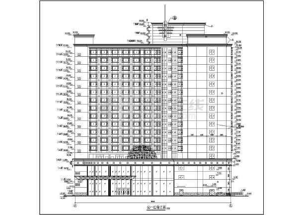 整套高层大酒店建筑设计施工图纸-图2