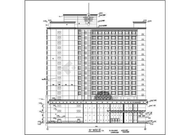 整套高层大酒店建筑设计施工图纸-图3