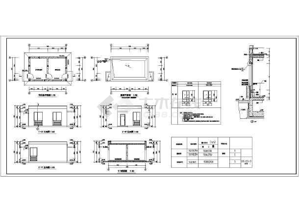 某地大型中学全套建筑施工图-图2