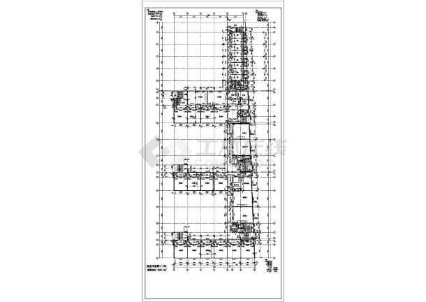 某地大型中学全套建筑施工图-图3